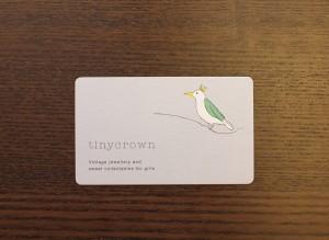 名刺サイズのショップカードですが、角丸加工でかわいらしさを演出。女性の心をつかみそうな感じです。