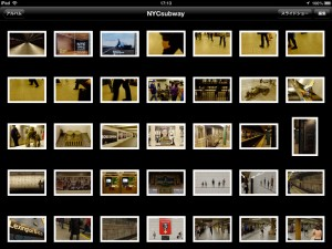 撮影した写真は全てiPadに読み込んであったので、iPad上で地下鉄の写真をある程度絞り込みます。