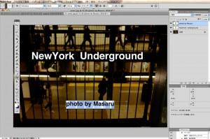 写真を活かすため、文字のレイアウトはシンプルに徹します。HelveticaフォントはMacに標準で入っているものを使用。
