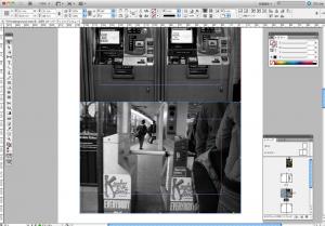 InDesignを使って、サムネイルで決めた通りにレイアウトしていきます。