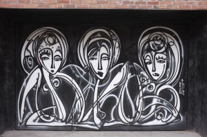 マンハッタン西側のチェルシー地区にて。このあたりはアートギャラリーが多く、グラフィティもたくさん見つけることができます。