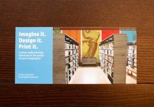 HP「Imagine it. Design it. Print it.」(壁紙プリントサービスのフライヤー)
