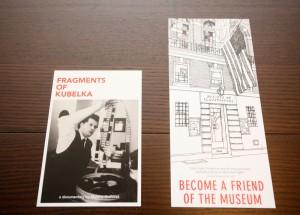 (左から)FRAGMENTS OF KUBELKA(展覧会フライヤー) 全米イラストレーターズソサエティ(ギャラリー会員入会案内)