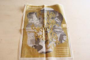 大判サイズの新聞というフォーマットで作られた作品も。「BLANK MAGAZINE VOL.05 マダラグラム・ポッセカット」(BLANK MAGAZINE)