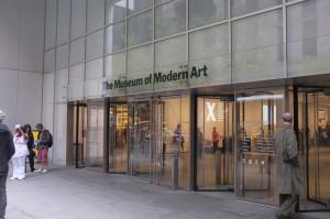 ニューヨーク近代美術館の入口。