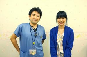 お話を伺った、勝田友博先生(左)と佐藤明日香さん。