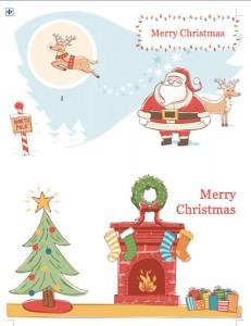 ... の無料テンプレート | インスピ : クリスマスカードテンプレート無料ワード : カード