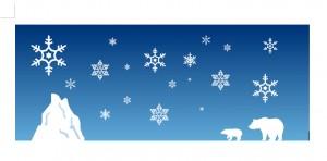 2014年寒中見舞いに使える冬らしい無料イラストまとめ作り方実例