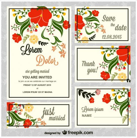 無料フォント 結婚式の招待状の無料フォント : 出典: http://www.freepik.com/free ...